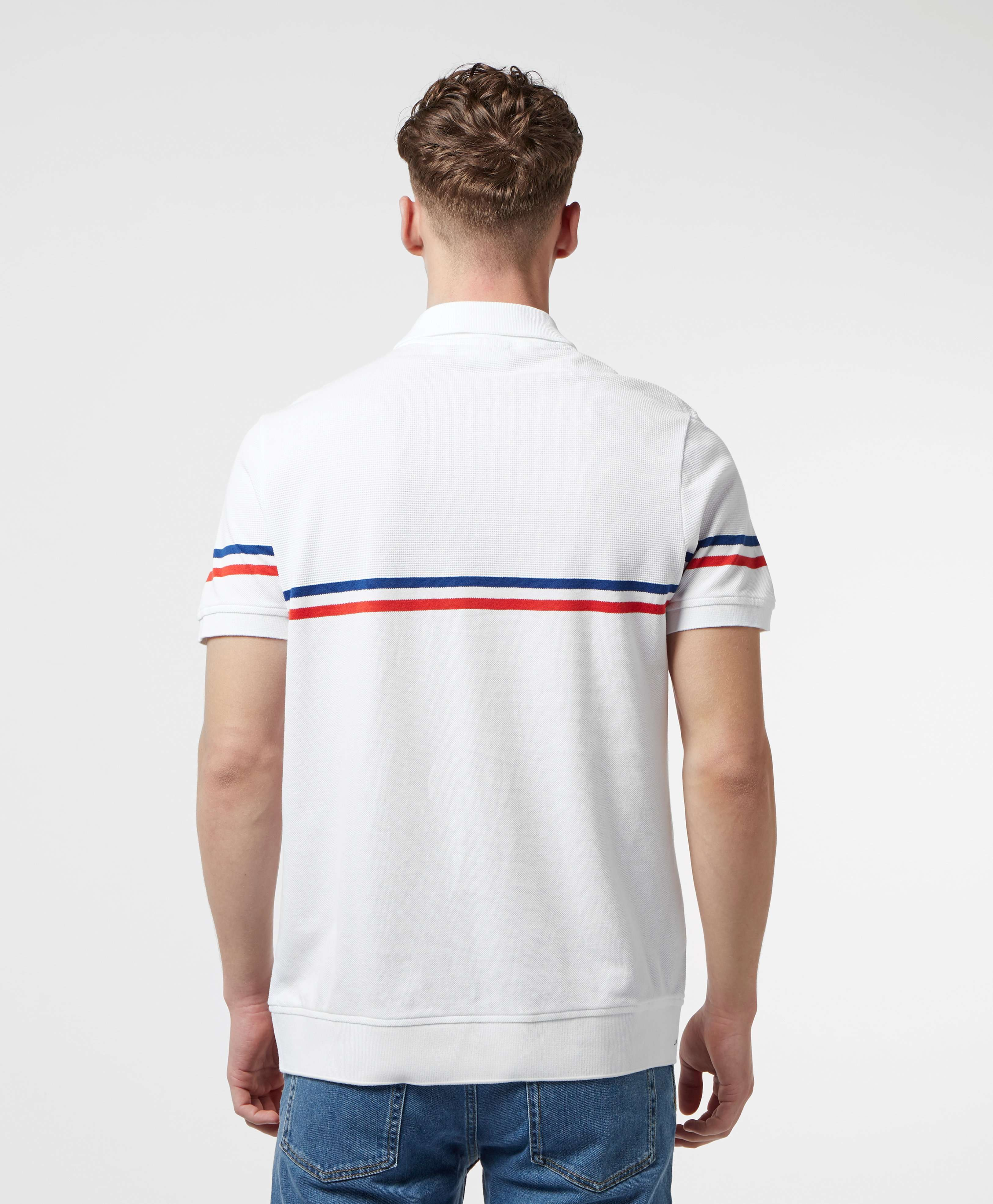 Lacoste Made In France Short Sleeve Stripe Polo Shirt