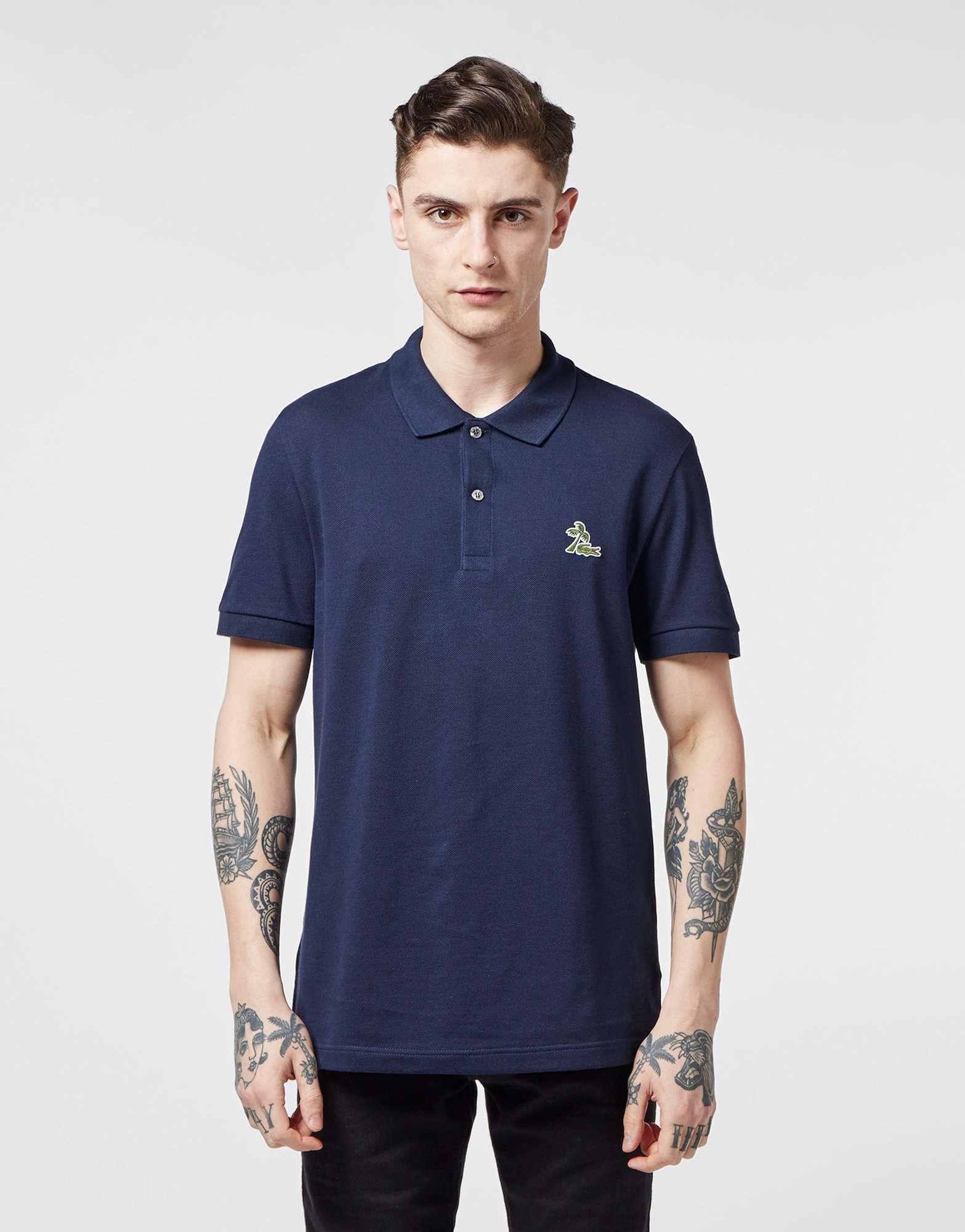 Lacoste Beach Croc Logo Short Sleeve Polo Shirt