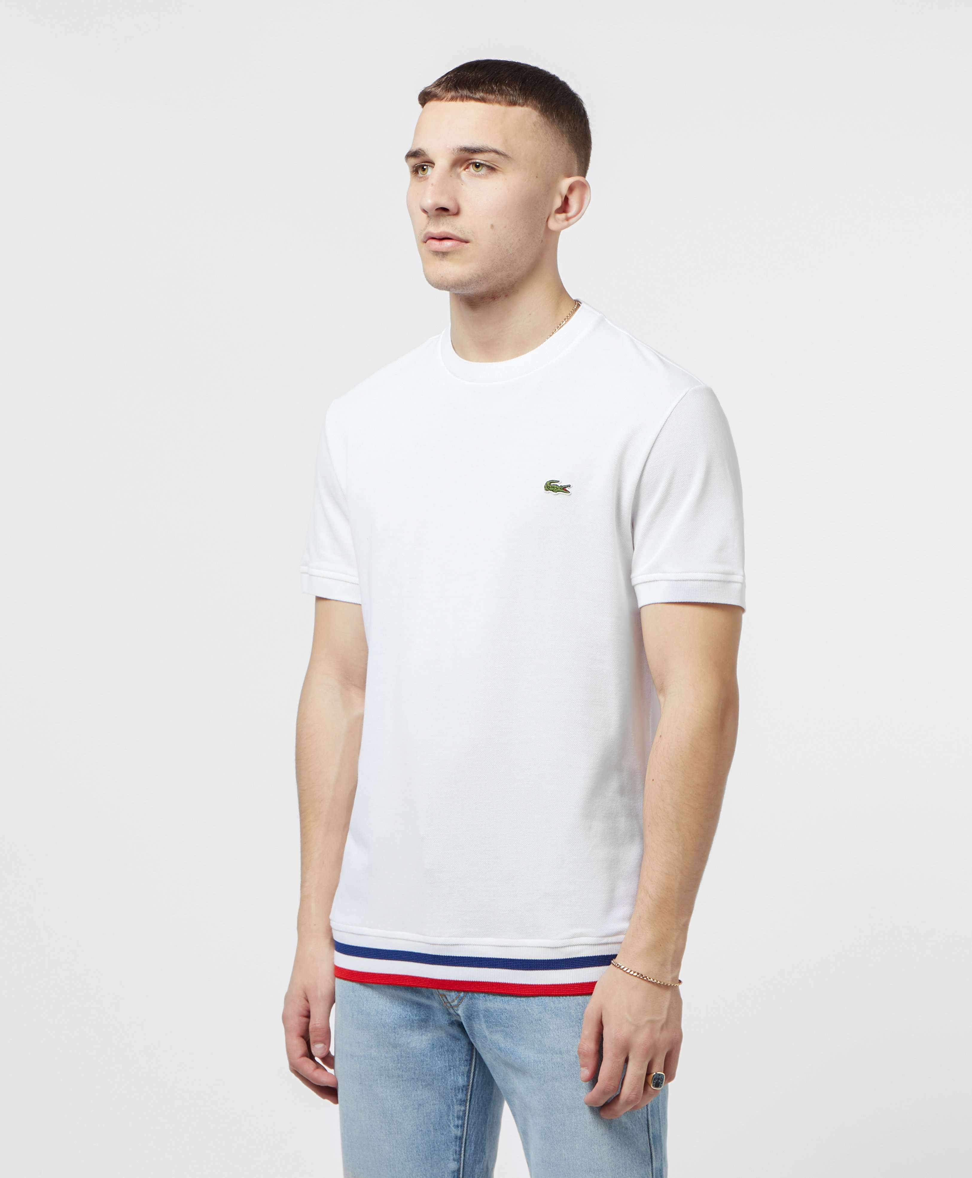 Lacoste Made In France Short Sleeve Tape T-Shirt