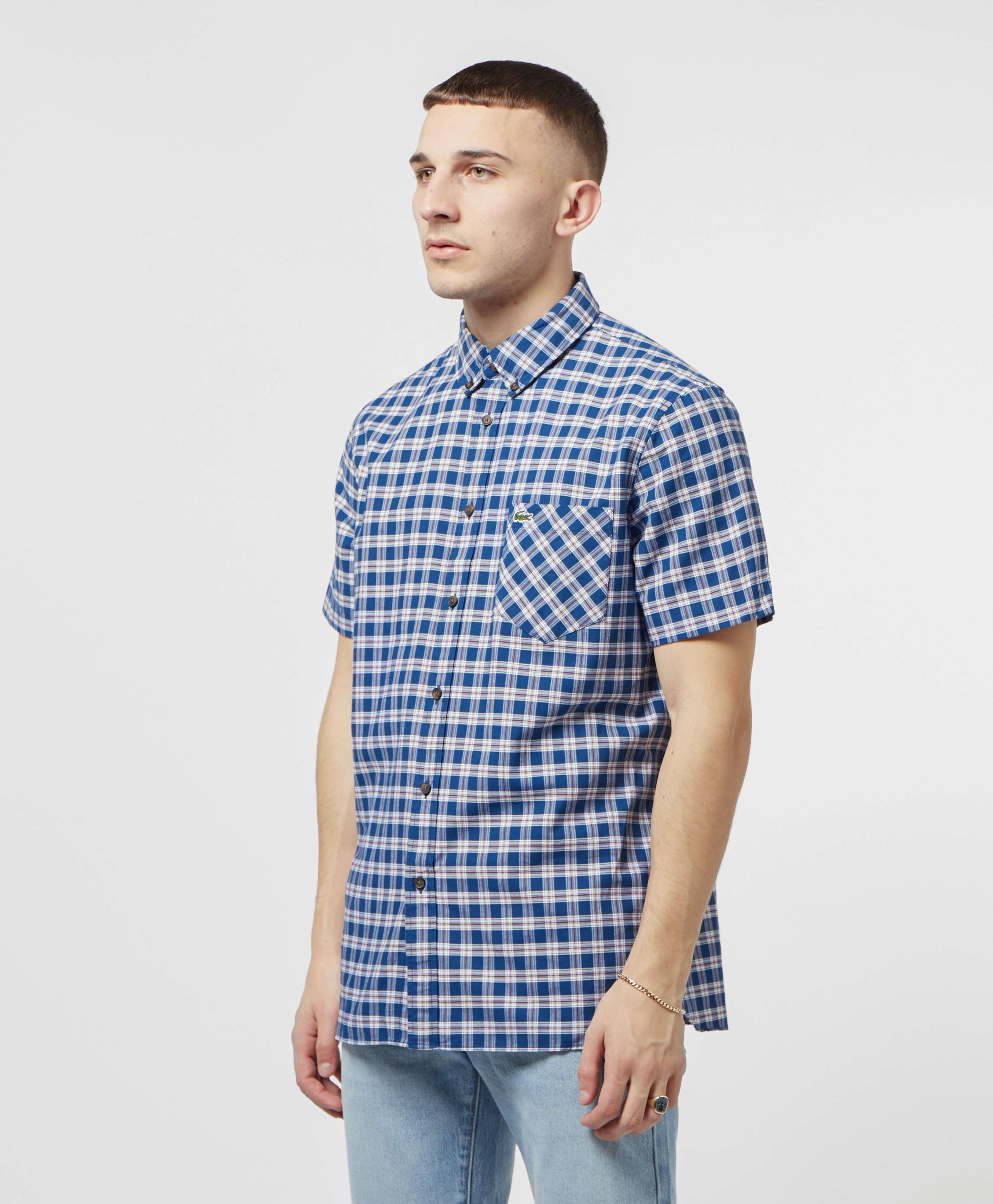 Lacoste Short Sleeve Check Shirt