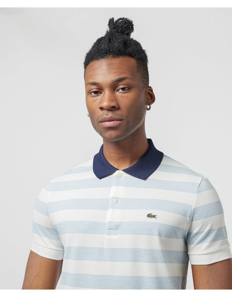 Lacoste Multi Stripe Short Sleeve Polo Shirt