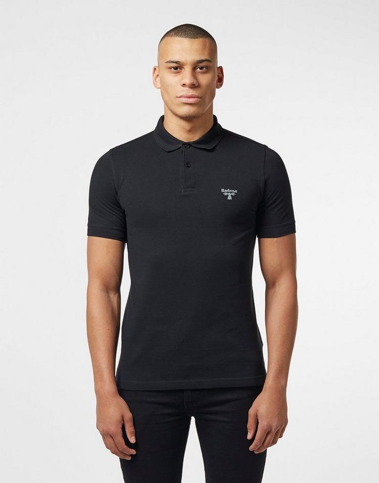 Money Metal Badge Long Sleeve Polo Shirt