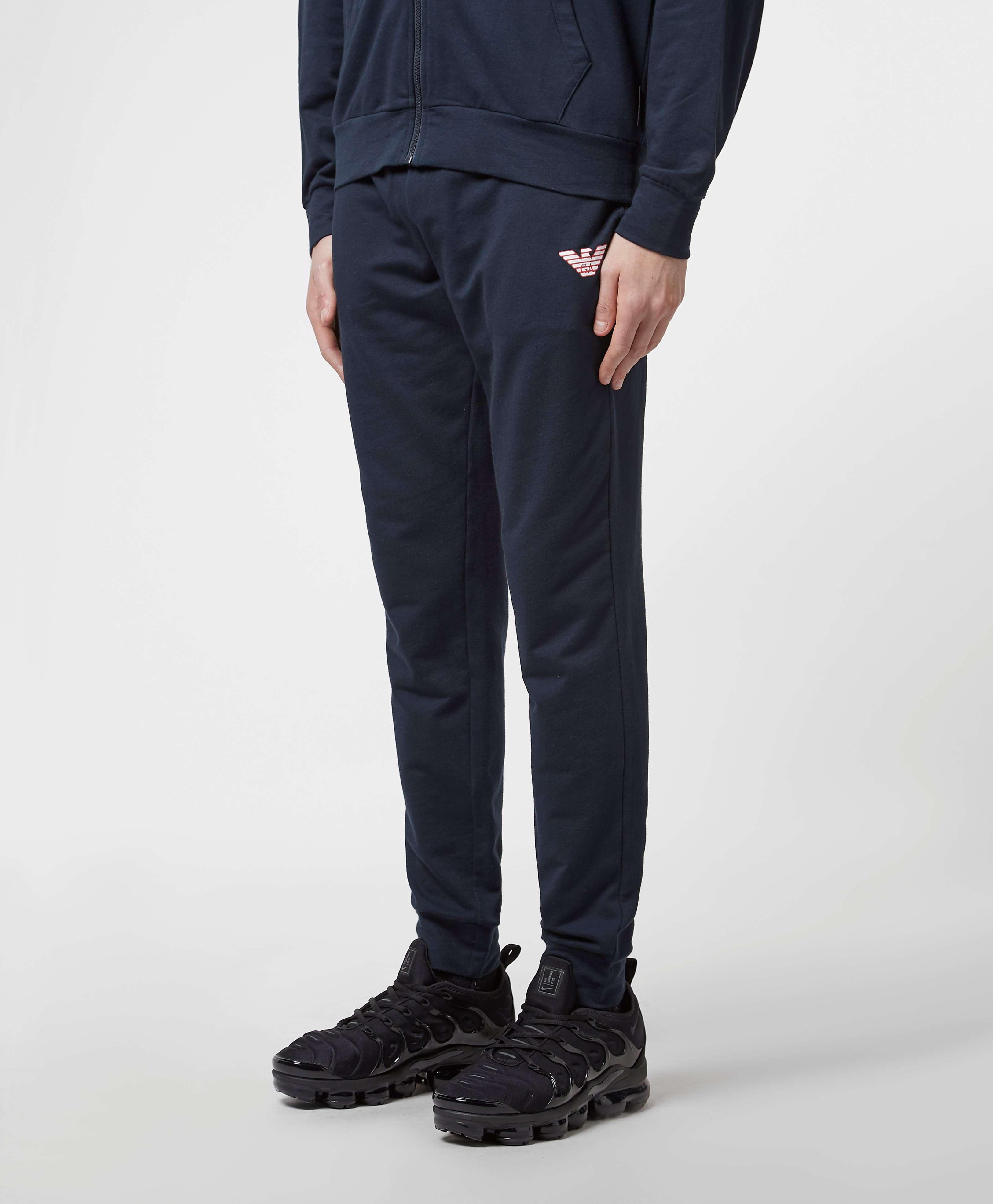 Emporio Armani Bold Eagle Cuffed Fleece Pants