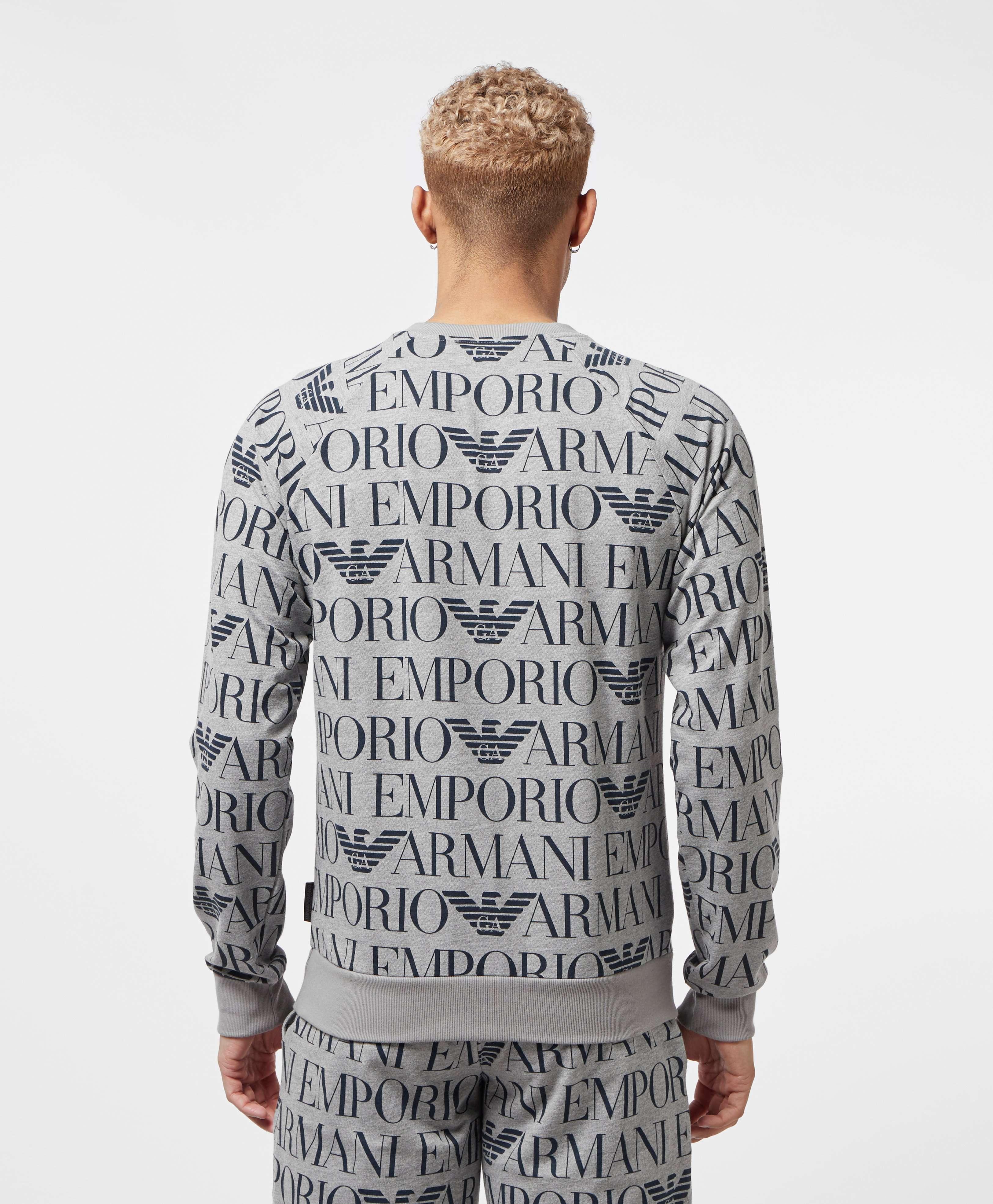 Emporio Armani All Over Logo Sweatshirt