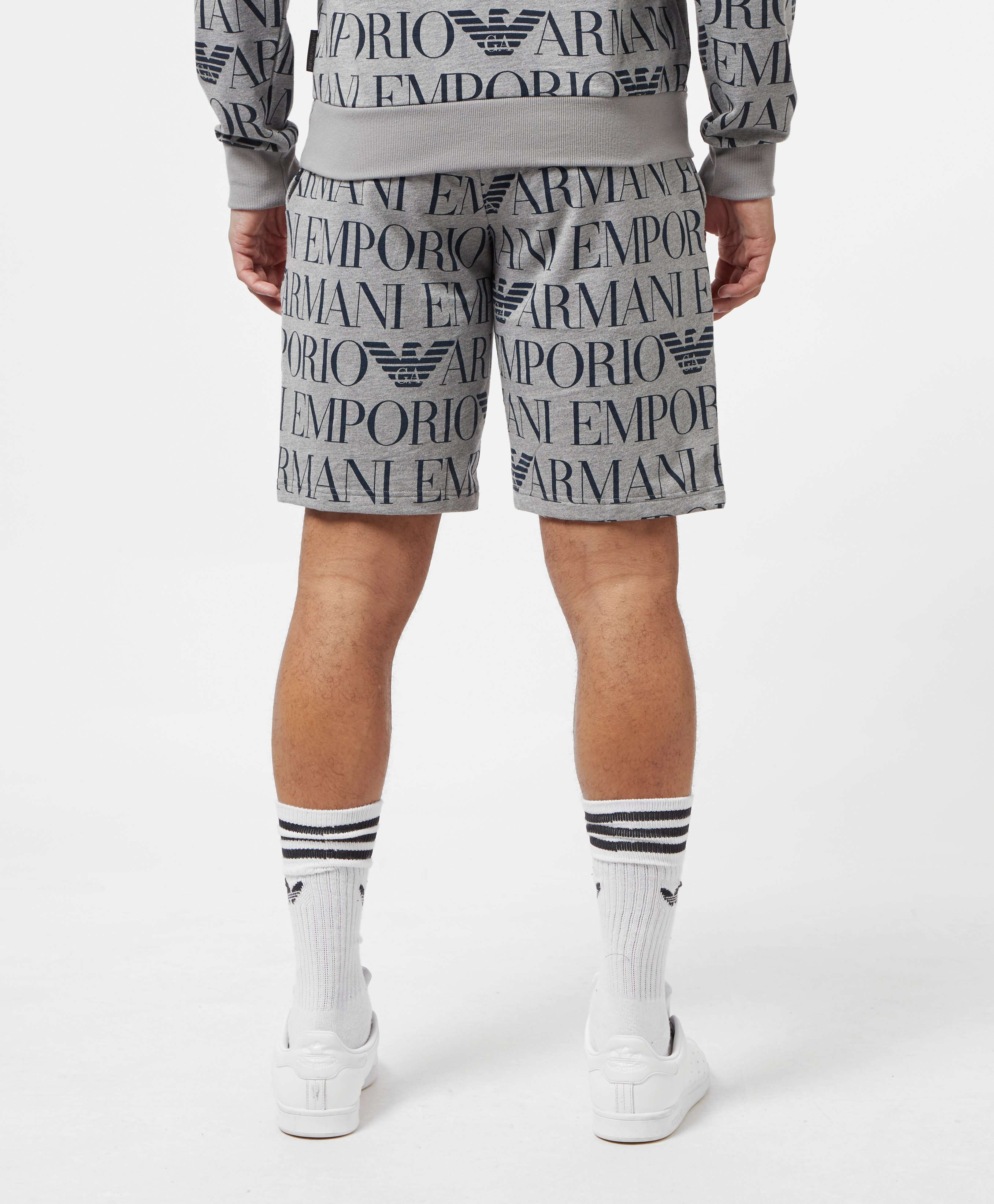 Emporio Armani All Over Logo Shorts