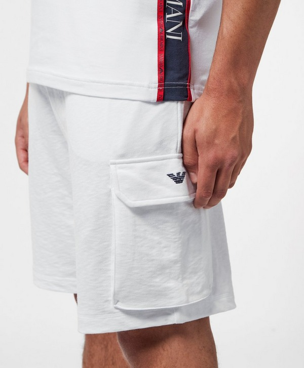 Emporio Armani Loungewear Tape Cargo Shorts