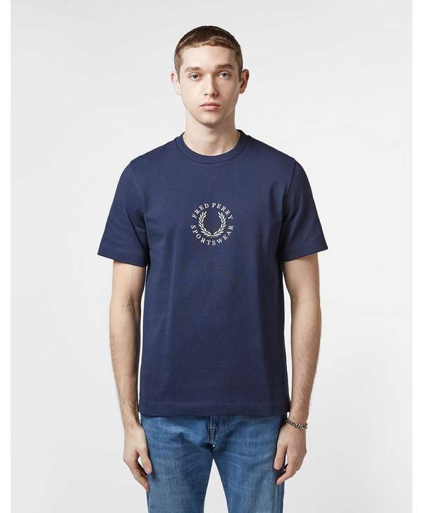 Fred Perry Branded Short Sleeve T-Shirt