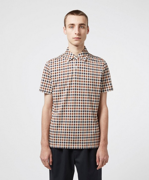 Aquascutum Andy Small Check Short Sleeve Polo Shirt