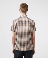 Aquascutum Andy Small Check Short Sleeve Polo Shirt