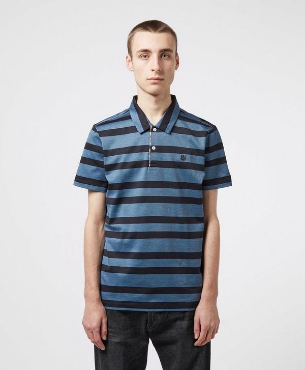 Aquascutum Osset Stripe Short Sleeve Polo Shirt