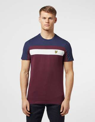 Lyle & Scott Short Sleeve Colour Block T-Shirt