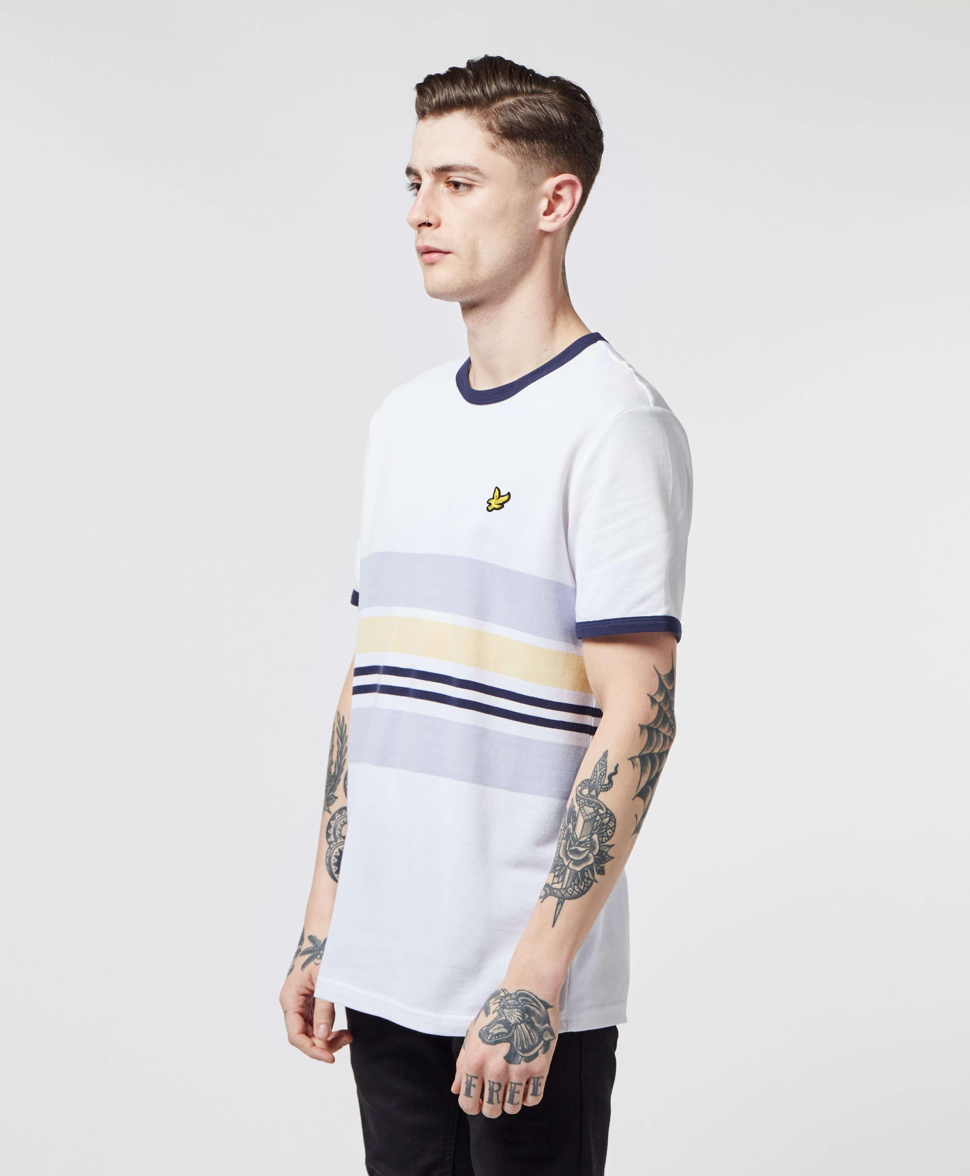 Lyle & Scott Pique Short Sleeve Stripe T-Shirt