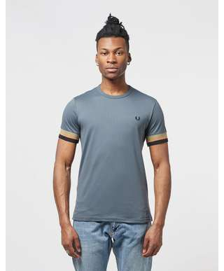 Fred Perry Deep Cuff Short Sleeve T-Shirt