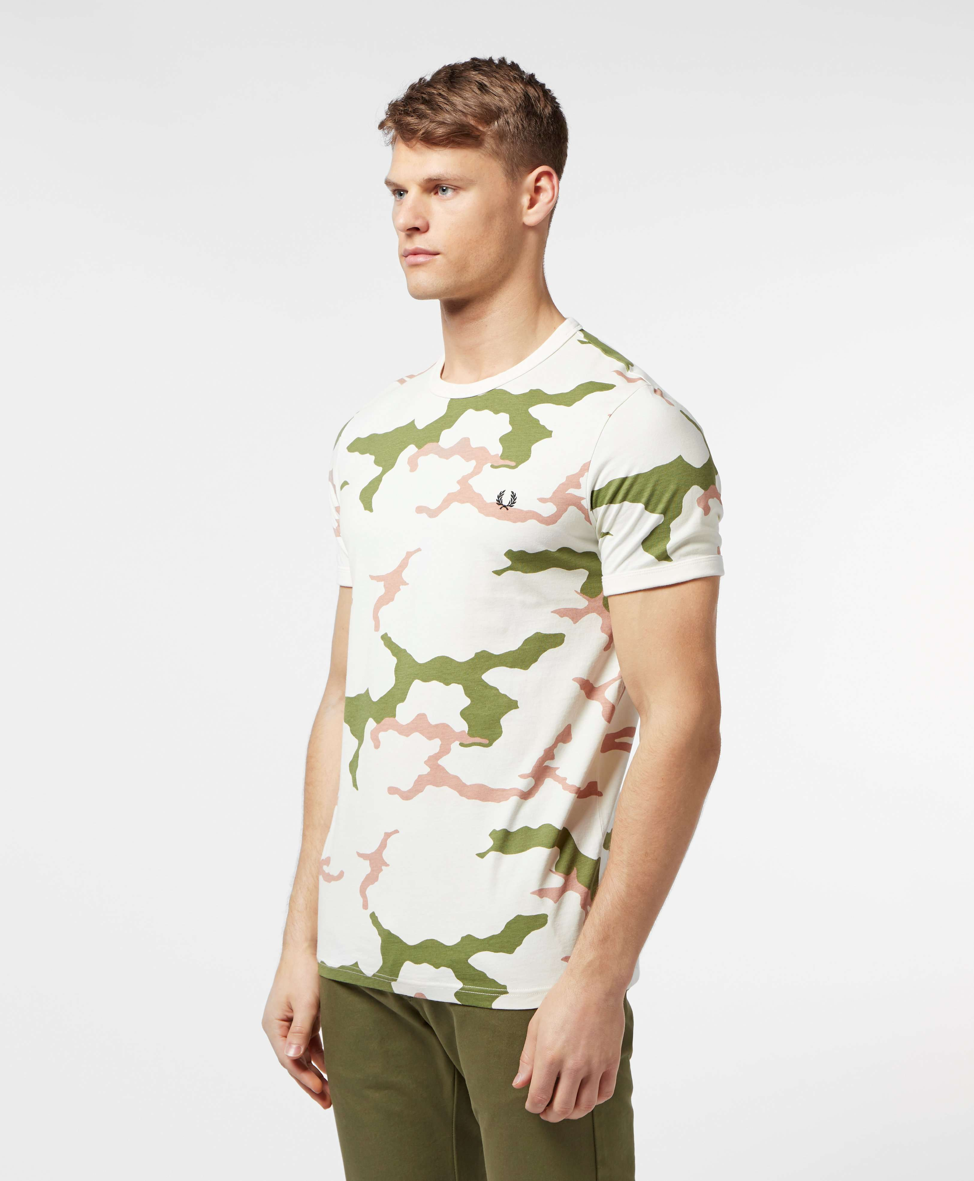 Fred Perry Short Sleeve Camo T-Shirt