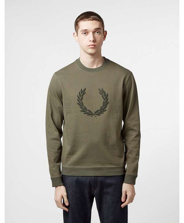 Fred Perry Textured Logo Sweatshirt