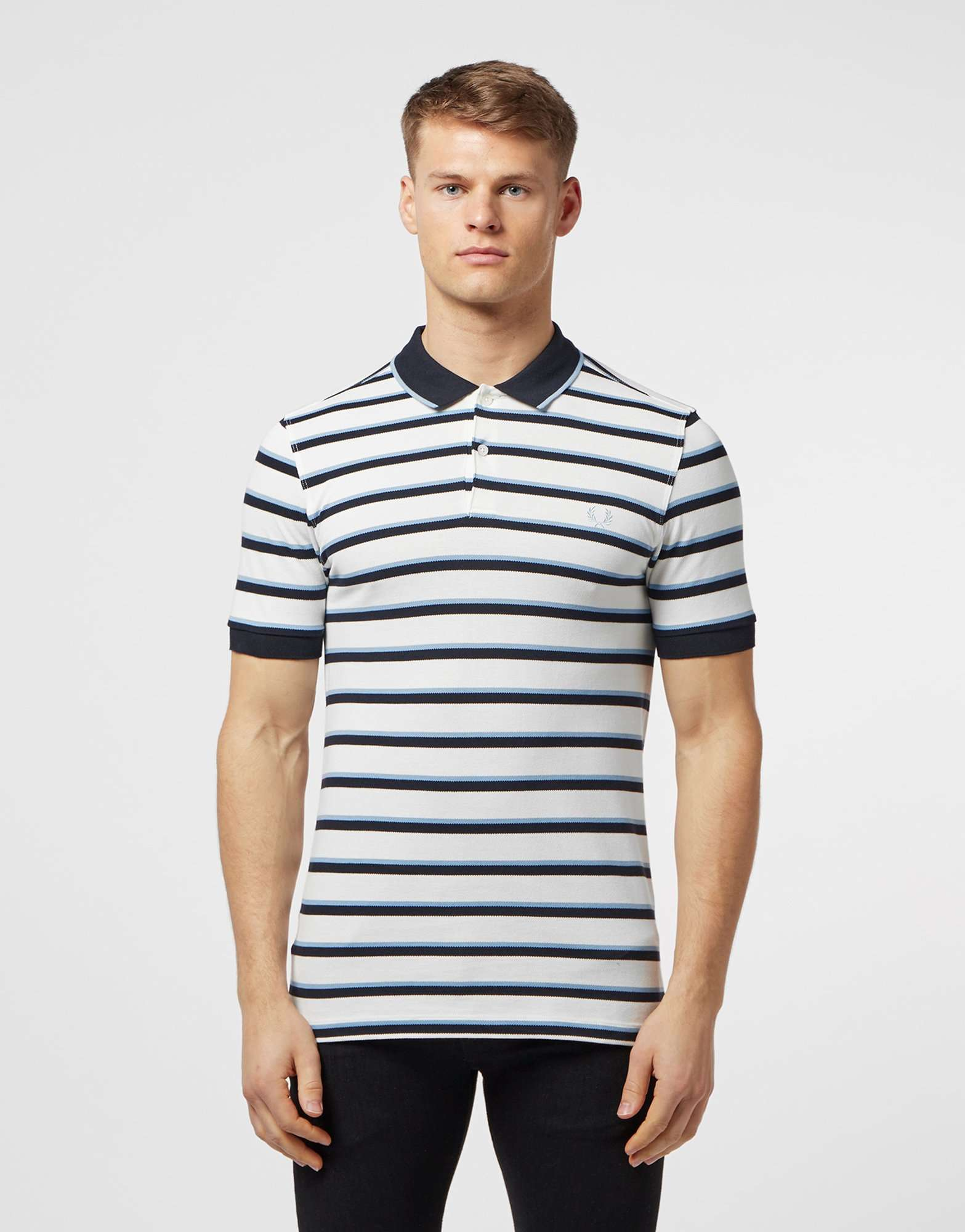 Fred Perry Stripe Pique Short Sleeve Polo Shirt