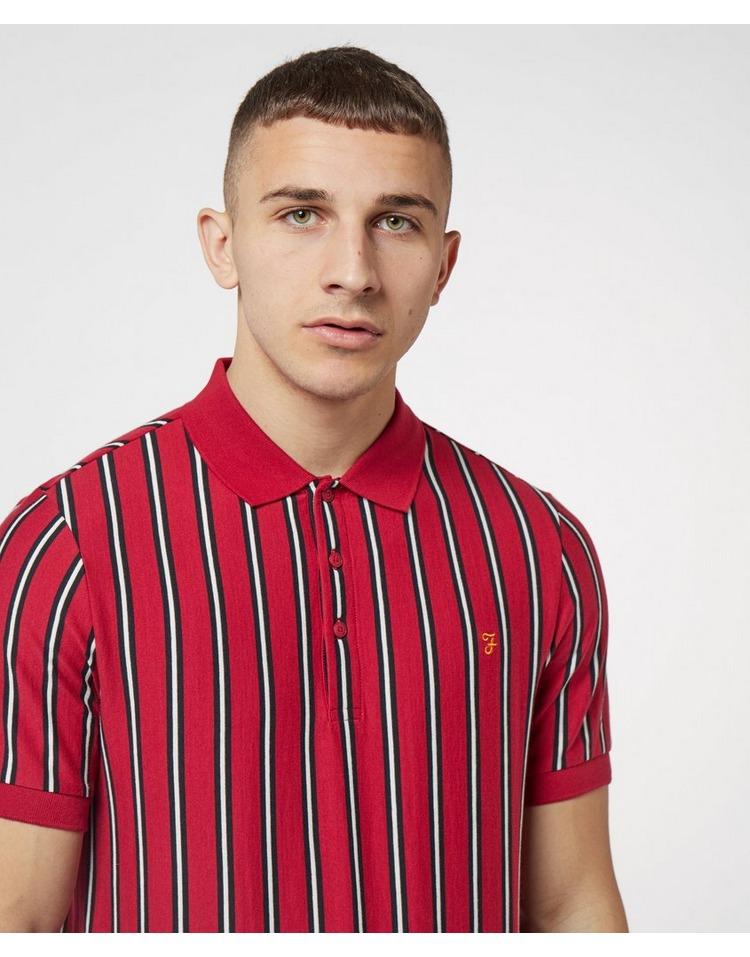 Farah Altham Striped Short Sleeve Polo Shirt