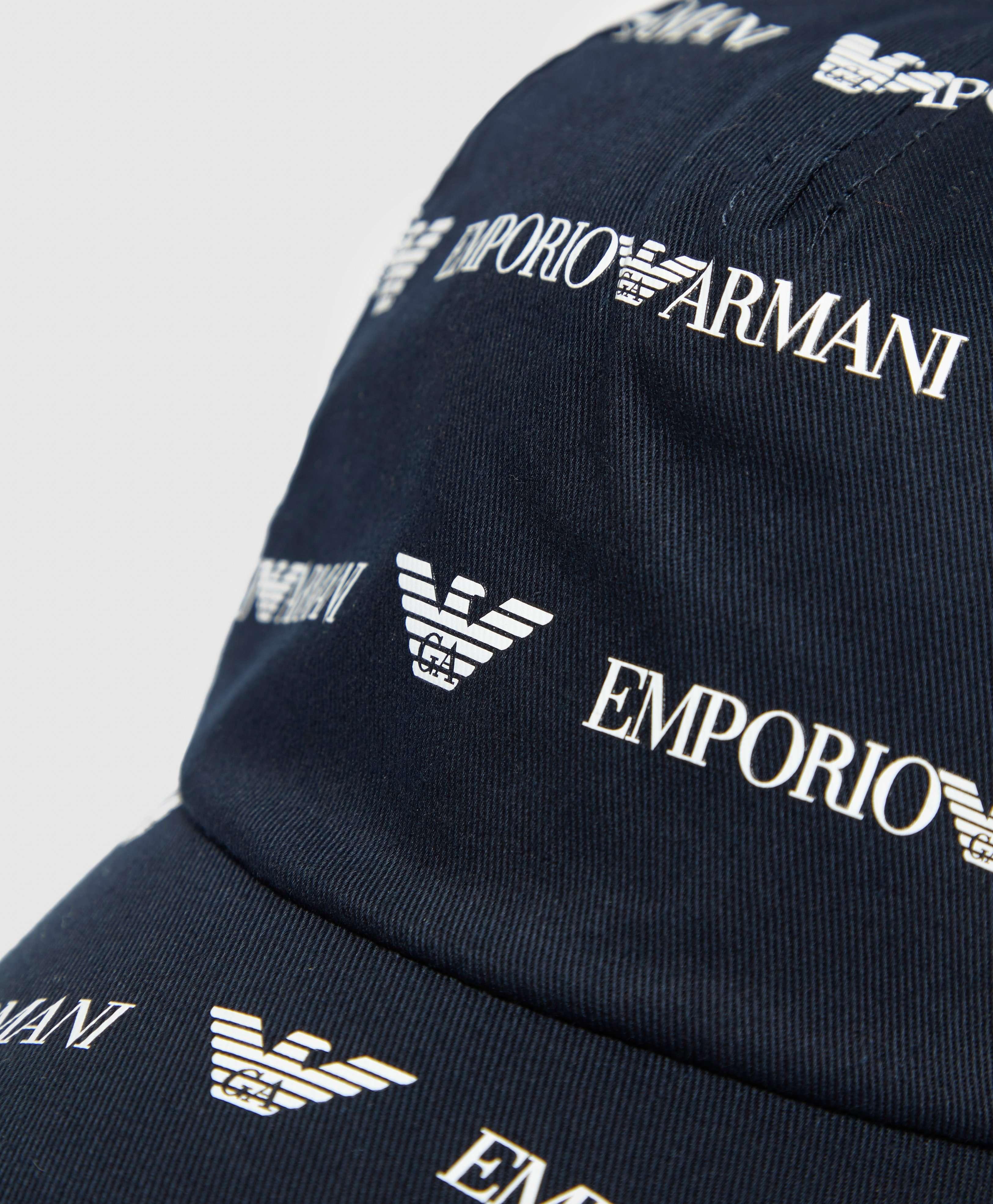 Emporio Armani All Over Logo Cap