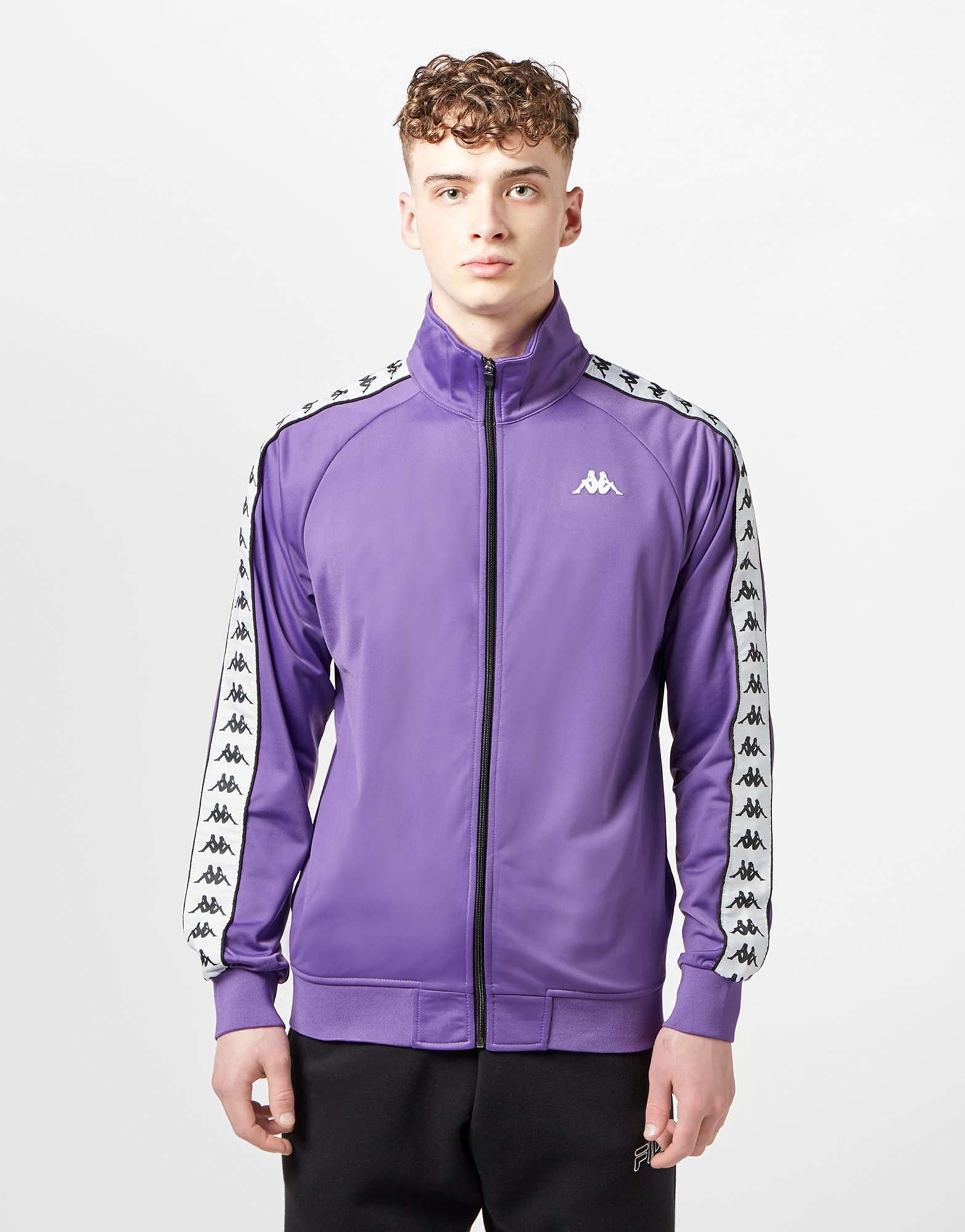 Kappa Banda Poly Full Zip Tape Track Top