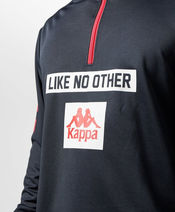 a6dfbcda3eb Kappa Baltuc Half Zip Poly Sweatshirt | scotts Menswear