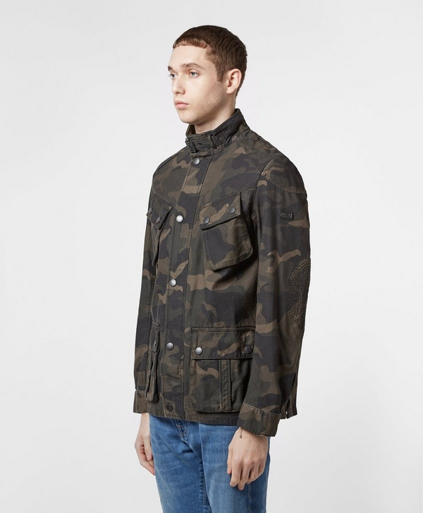 6bd6a89e6e2f5 Barbour International Washed Camo Jacket | scotts Menswear