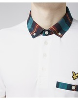 Lyle & Scott Tartan Collar Polo Shirt
