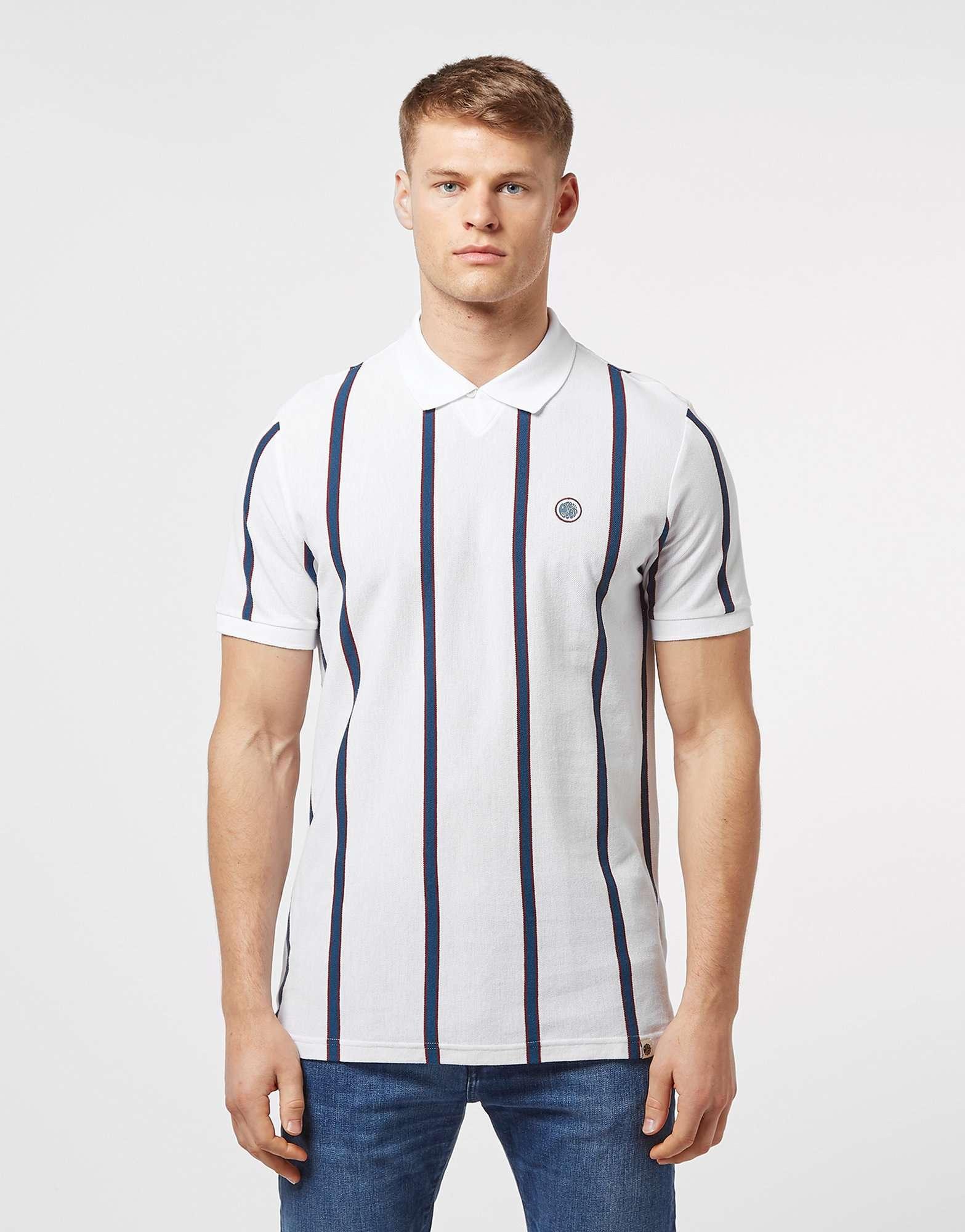 Pretty Green Bro Stripe Short Sleeve Polo Shirt