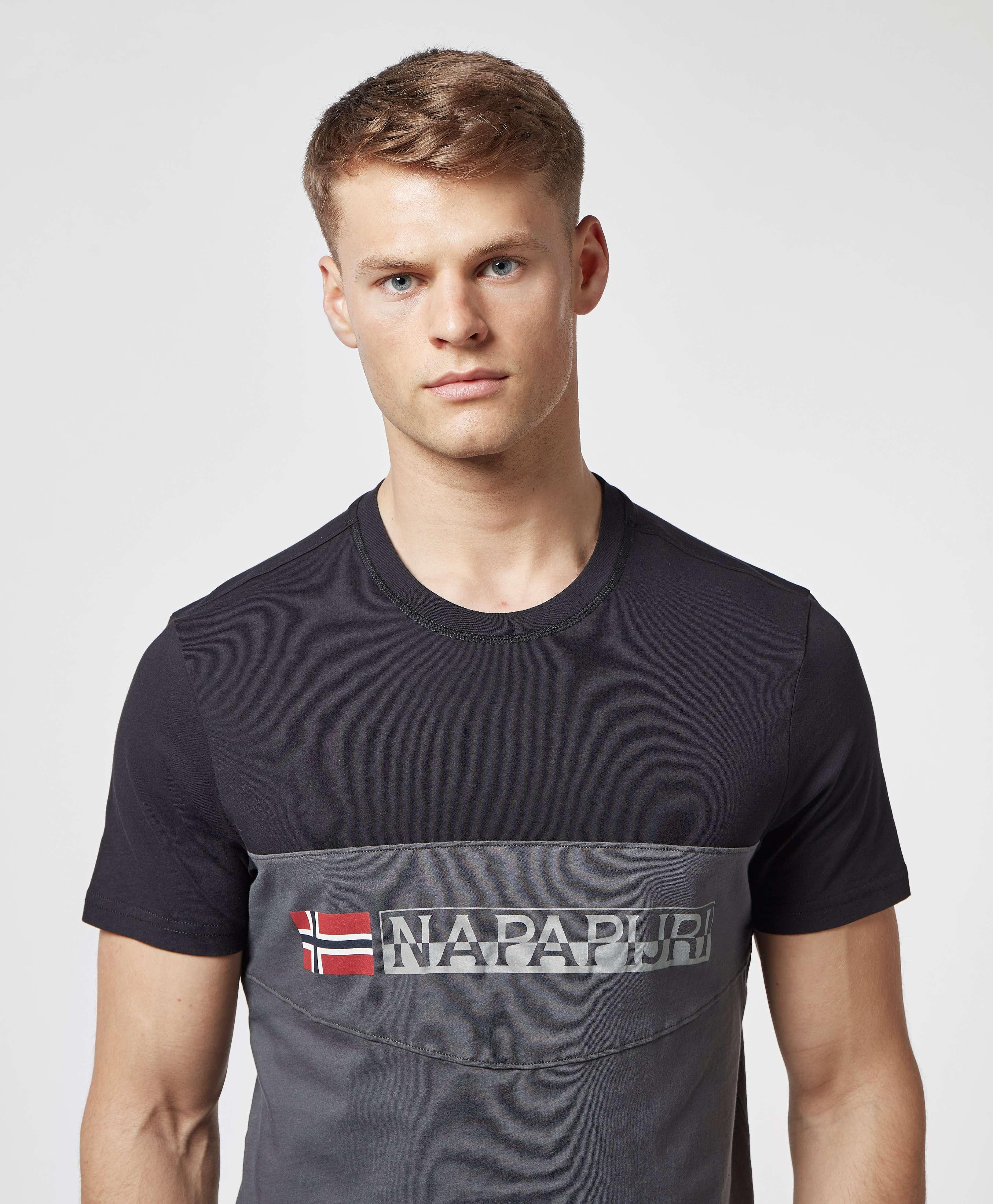 Napapijri Colour Block Linear Short Sleeve T-Shirt