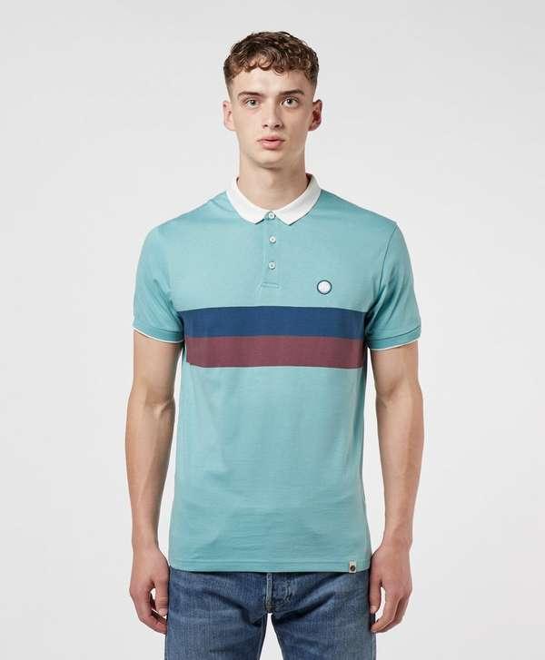 Pretty Green Chest Stripe Short Sleeve Polo Shirt
