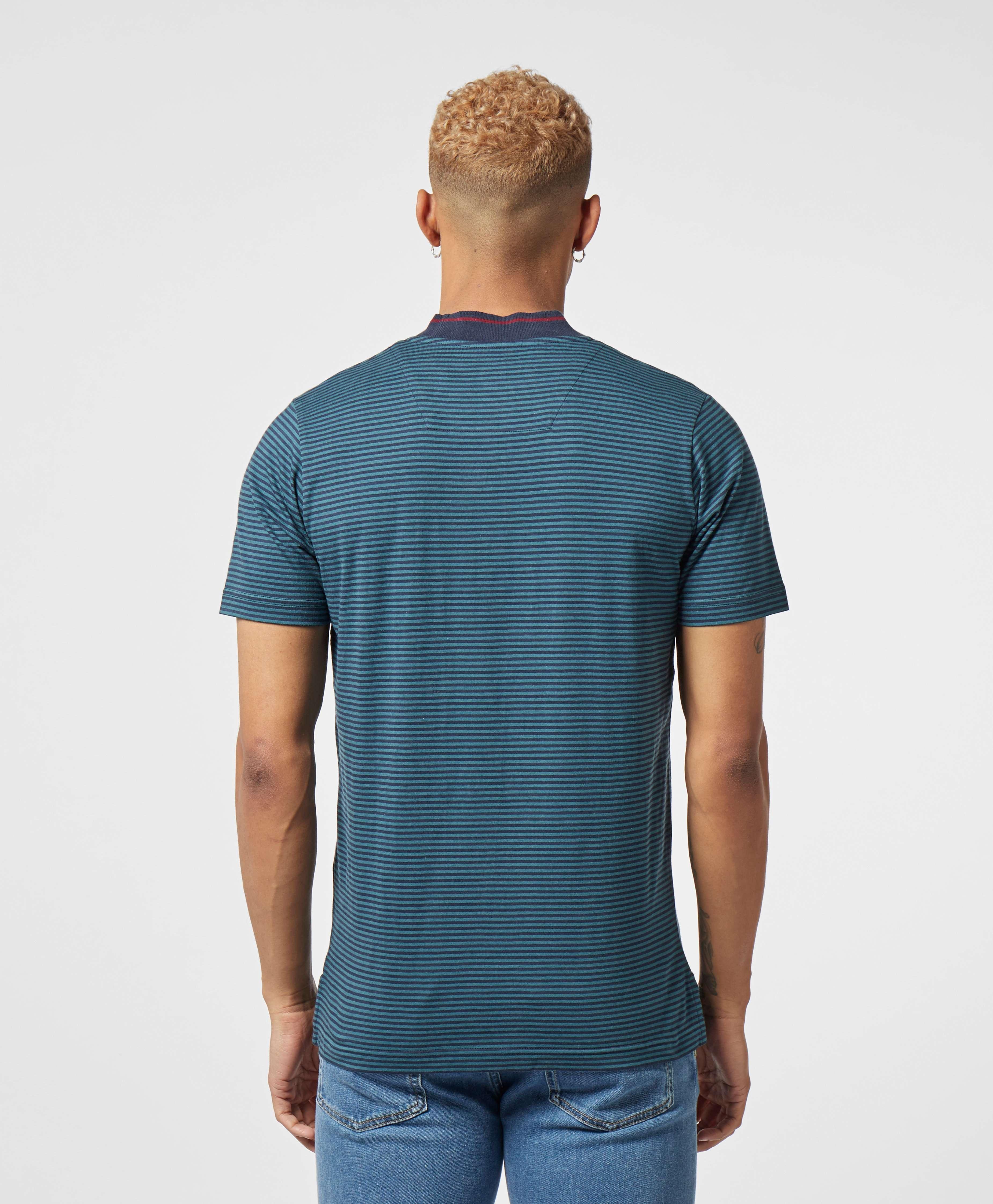 Marshall Artist Mock Stripe Short Sleeve T-Shirt