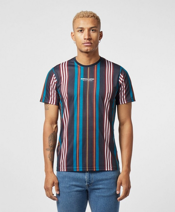 Marshall Artist Vertical Stripe Short Sleeve T-Shirt