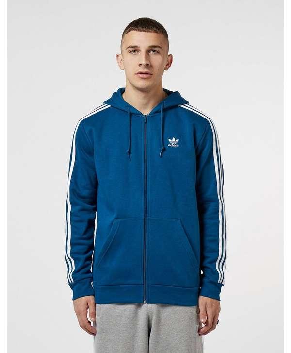 77da390a adidas Originals 3-Stripe Full Zip Hoodie | scotts Menswear