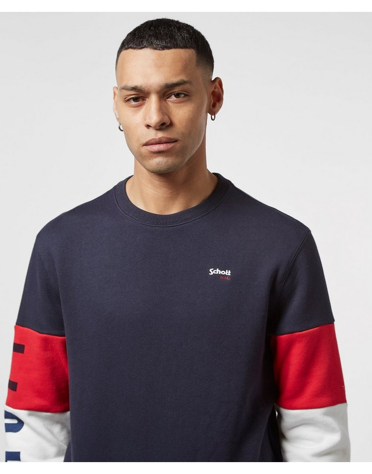 Schott Block Sleeve Sweatshirt