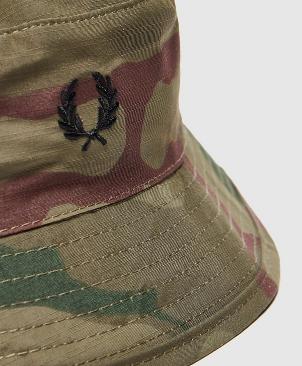 a1253090d Fred Perry Camo Bucket Hat   scotts Menswear