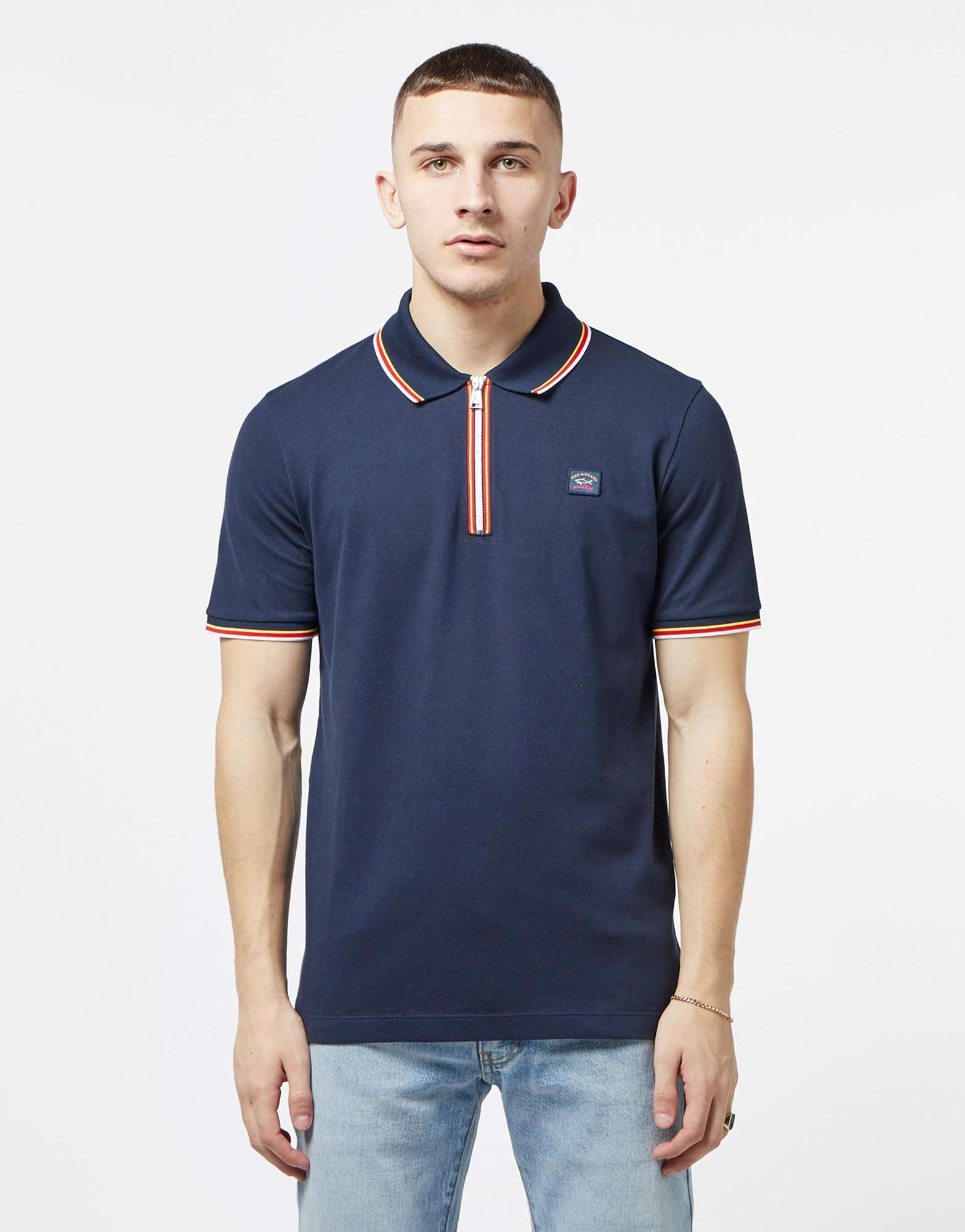 Paul and Shark Tape Short Sleeve Polo Shirt - Online Exclusive