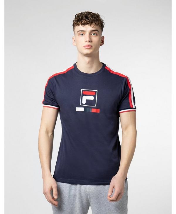 3bc07a46 Fila Box Logo Short Sleeve T-Shirt | scotts Menswear
