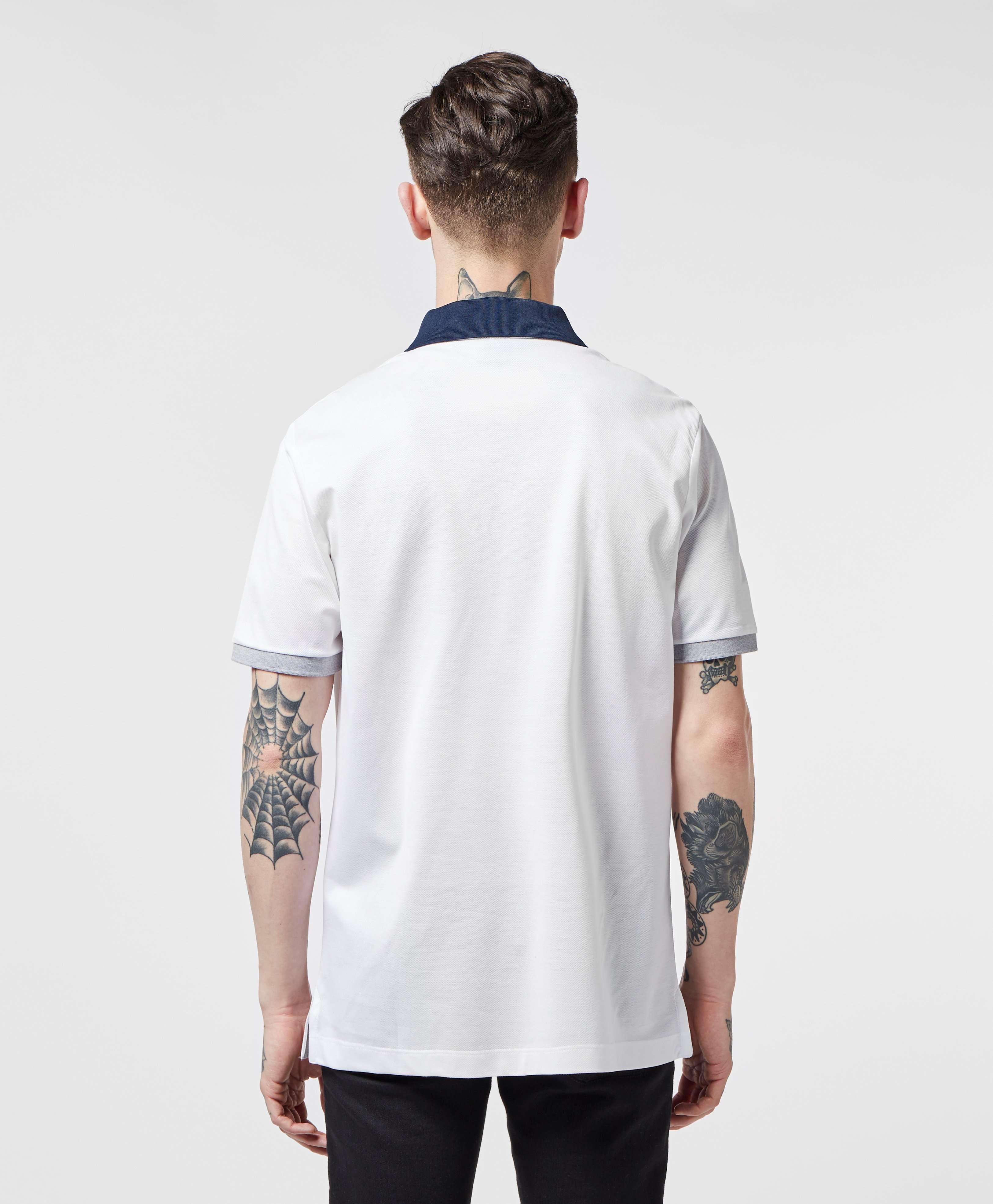 Paul and Shark Premium Contrast Collar Short Sleeve Polo Shirt