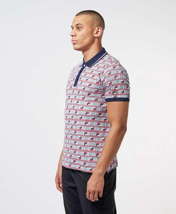 Fila All Over Print Short Sleeve Polo Shirt
