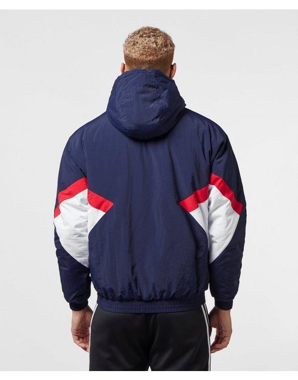 Adidas Originals Half Zip Pouch Pocket Jacket Navy