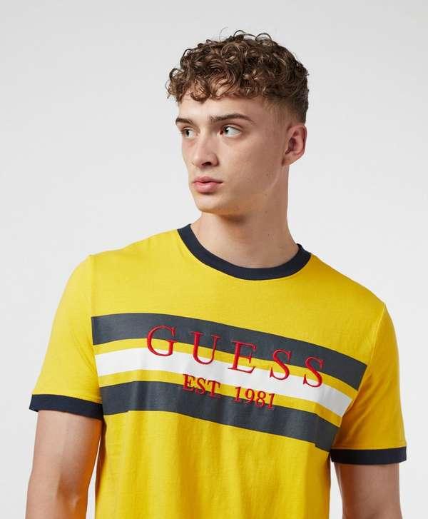 Guess Block Stripe Short Sleeve T-Shirt