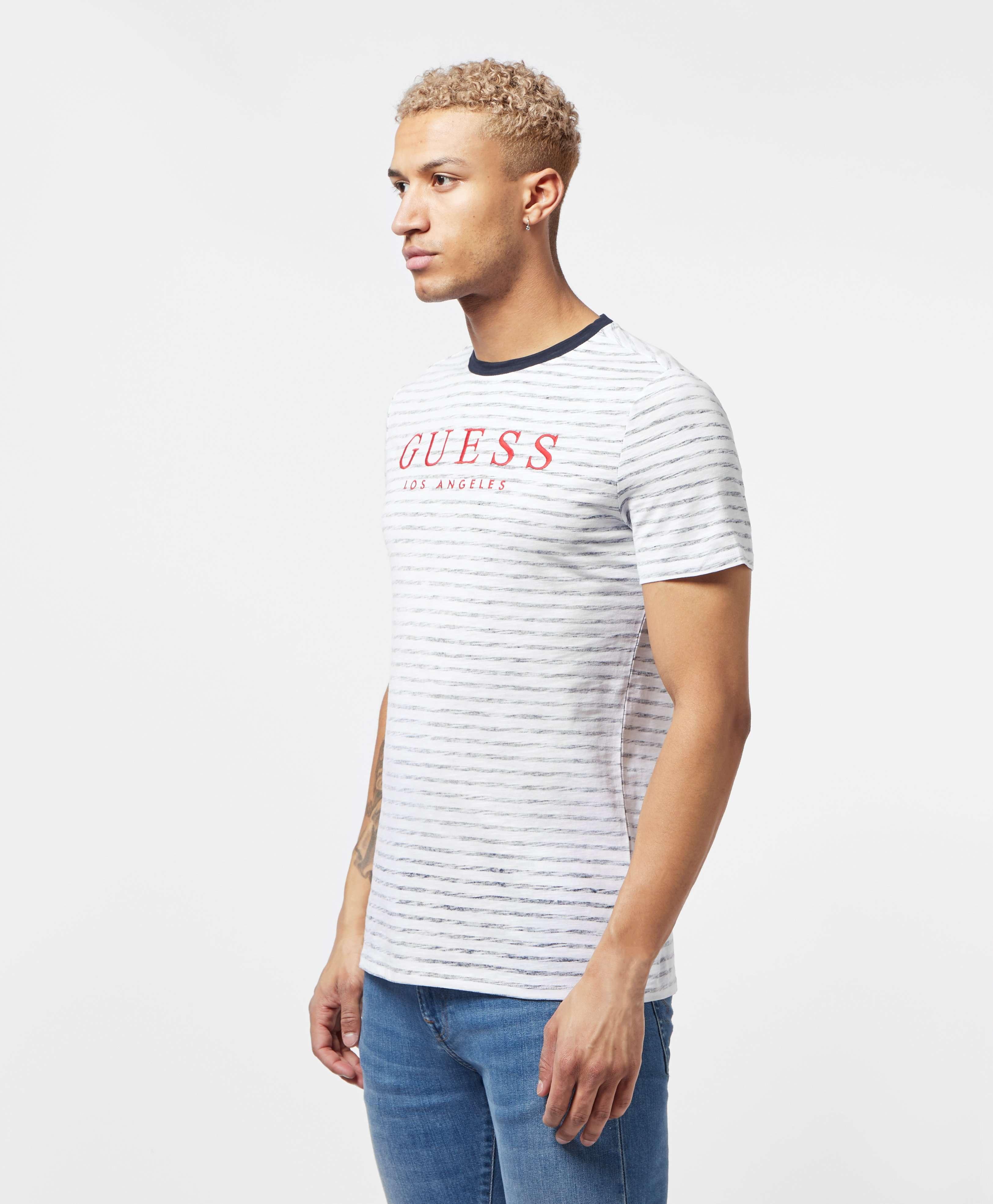 Guess Fine Stripe Short Sleeve T-Shirt