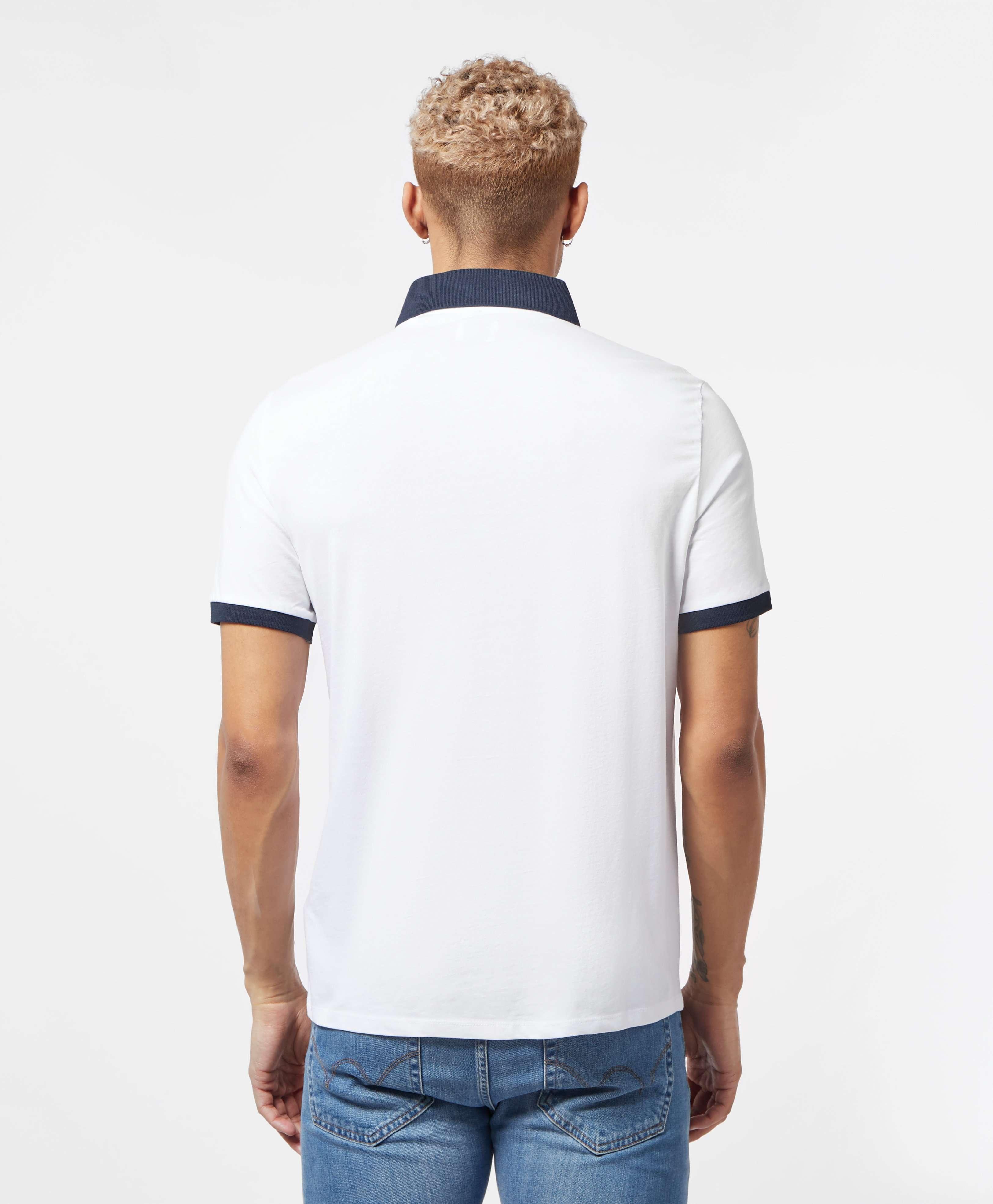 Guess Stripe Panel Short Sleeve Polo Shirt