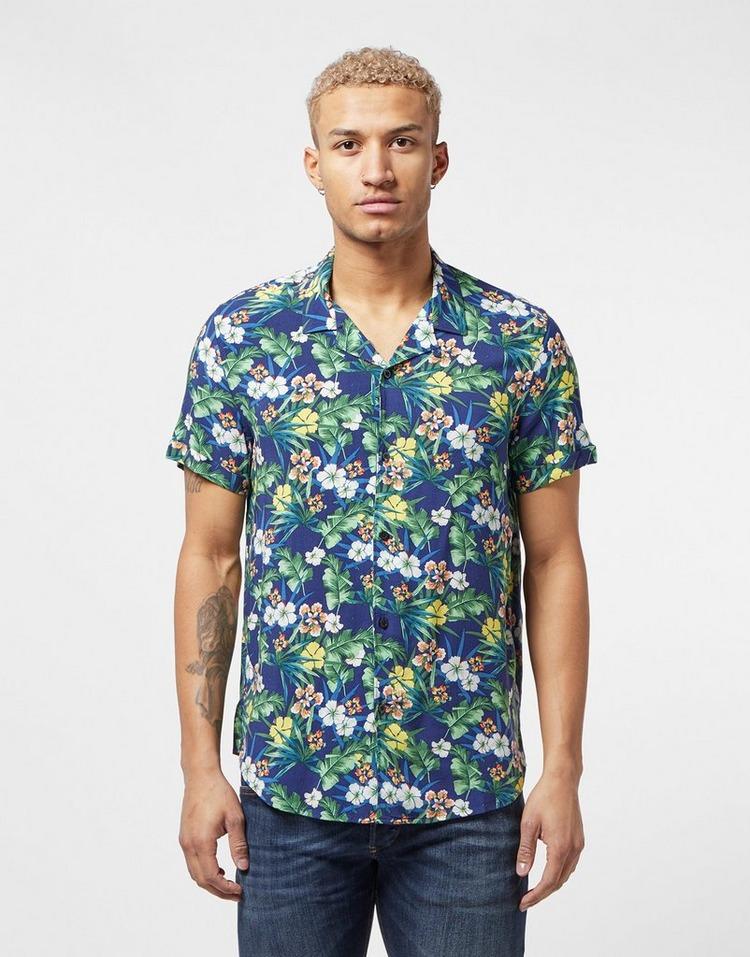 Guess Floral Print Short Sleeve Shirt