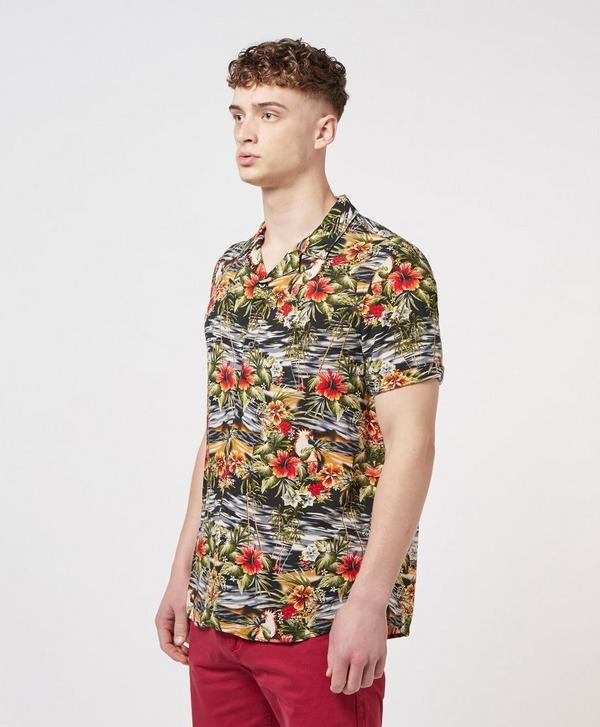 Guess Hawaii Print Short Sleeve Shirt