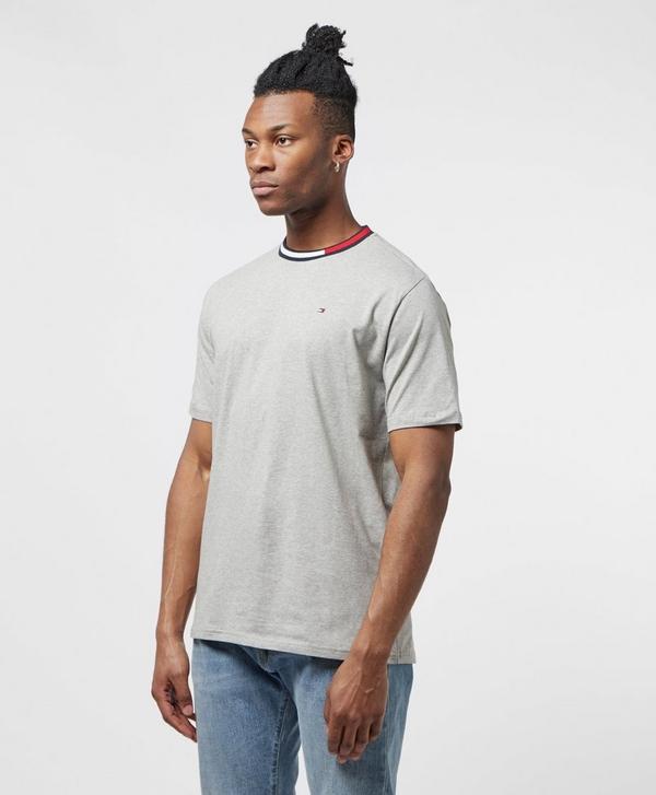 7f9ba425d Tommy Hilfiger Tape Collar Short Sleeve T-Shirt   scotts Menswear