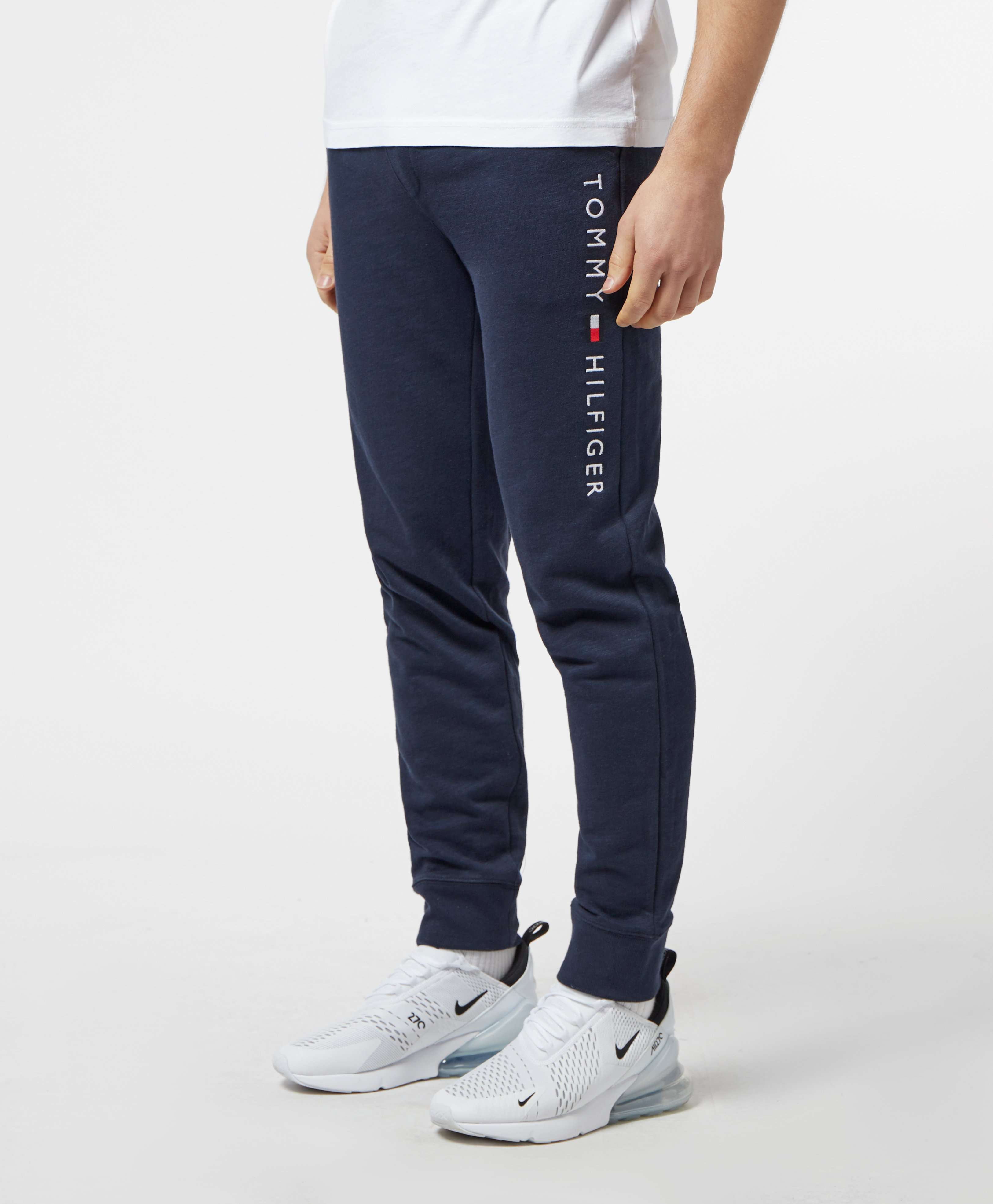 Tommy Hilfiger Embroidered Logo Cuffed Fleece Pants