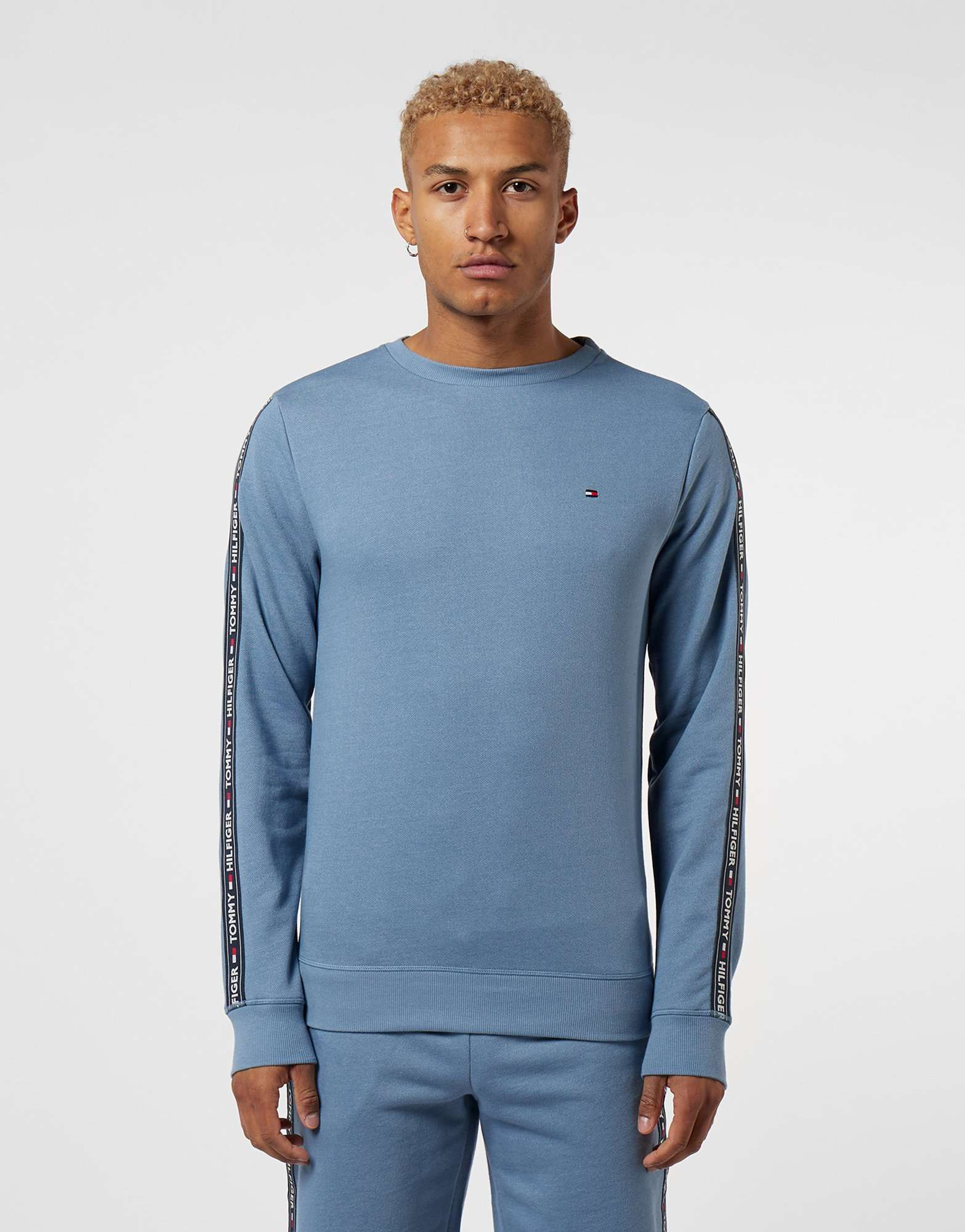 c678f239c Tommy Hilfiger Tape Crew Sweatshirt | scotts Menswear