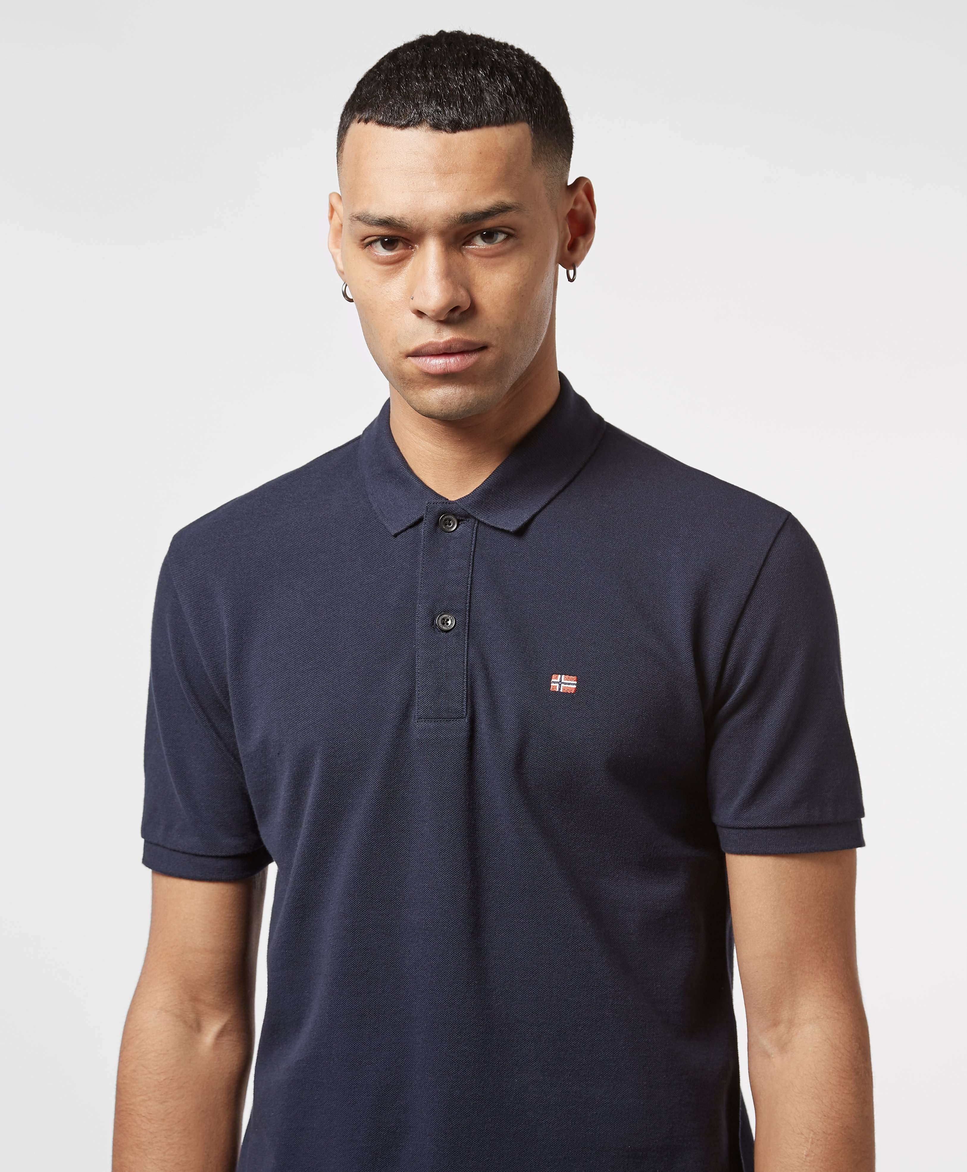 Napapijri Small Flag Short Sleeve Polo Shirt