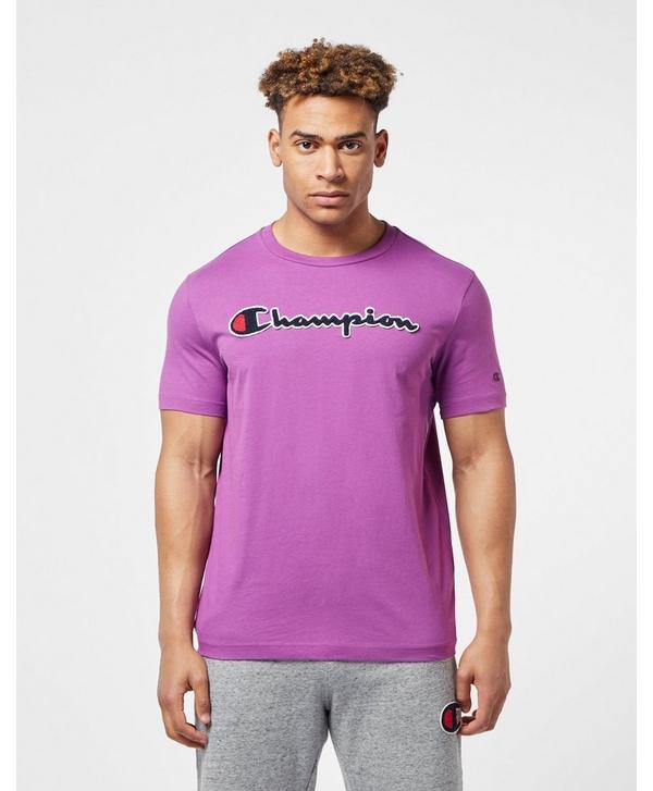 03bd15fb Champion Script Short Sleeve T-Shirt | scotts Menswear