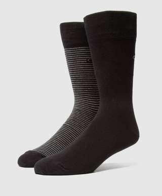 Calvin Klein 2-Pack Stripe Socks